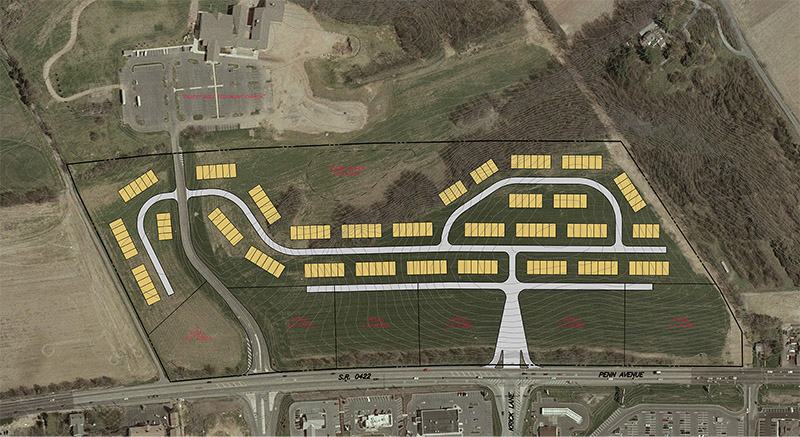 4889 Penn Avenue in Sinking Spring, PA is a commercial piece of land available for sale.